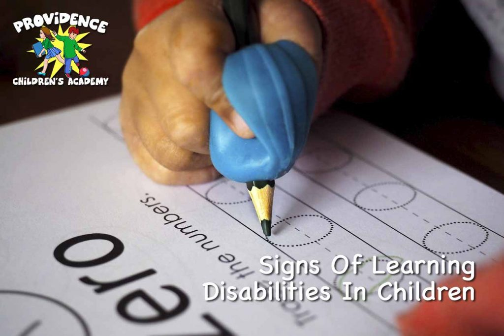 Signs Of Learning Disabilities In Children